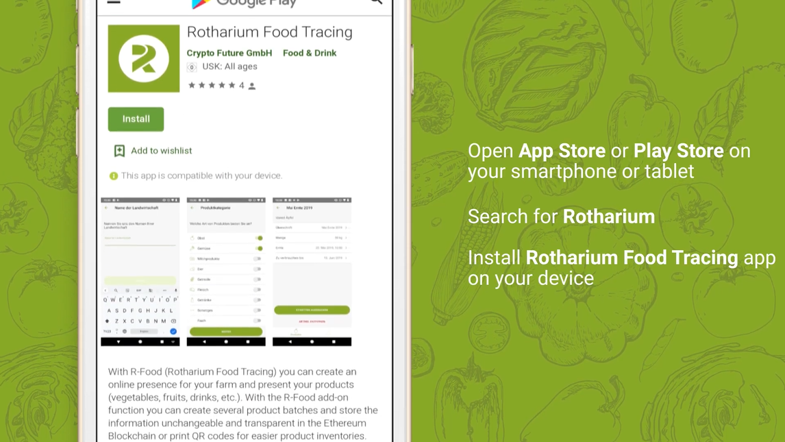 Rotharium Food Tracing App